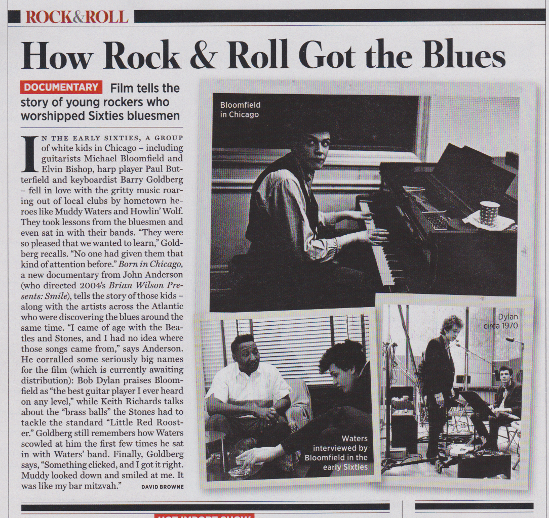 Rolling Stone Sept 12 Born in Chicago article